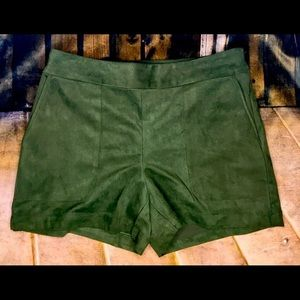 Maria Oliver Women Shorts Suede